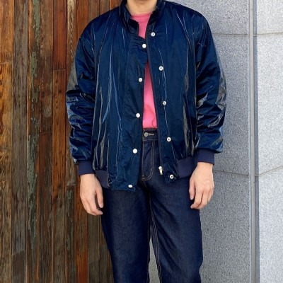 [OUTER] coating satin blouson