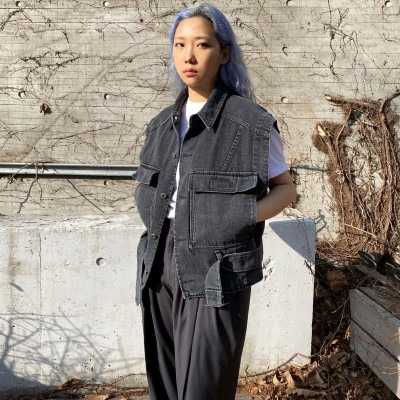 [OUTER] denim vest