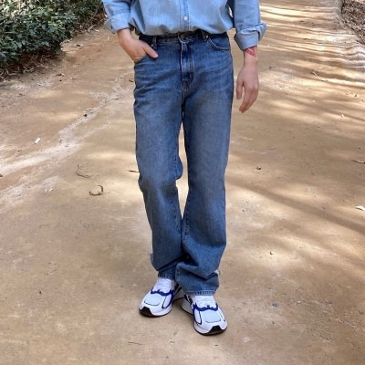 [PANTS] washing straight denim