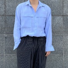 [TOP] crease cotton silk shirt