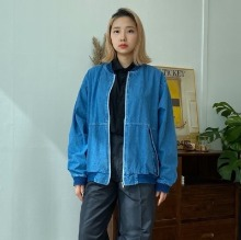 [OUTER] denim blouson jacket