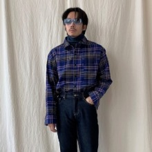 [TOP] grunge check shirt